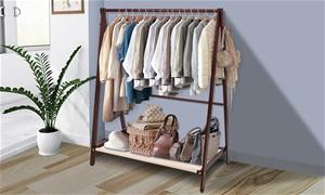 Levede Garment Wooden Coat Clothes Stand