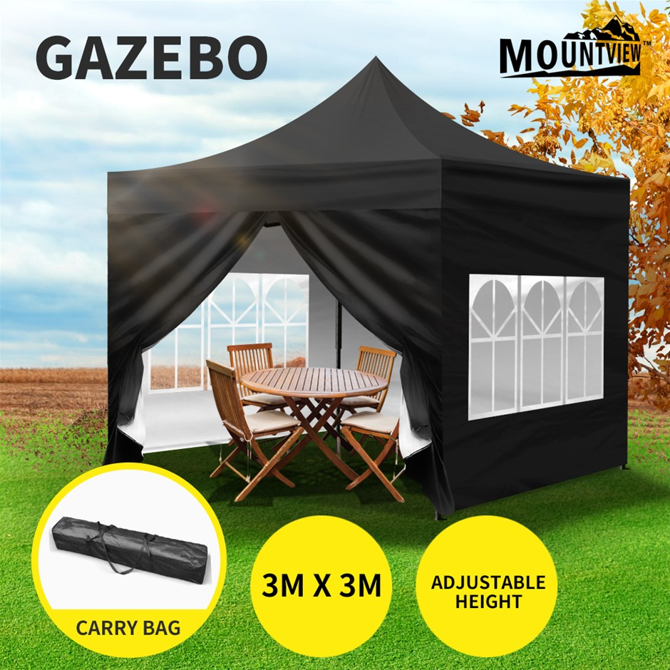 Mountview Gazebo Pop Up Marquee 3x3m Outdoor Canopy Tent Camping Party
