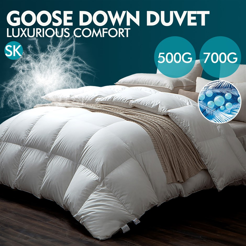 DreamZ 700GSM All Season Goose Down Feather Filling Duvet in Super King