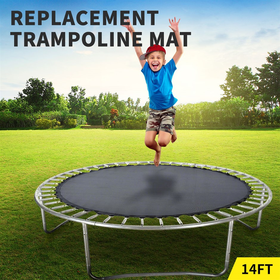 14 FT Kids Trampoline Pad Replacement Mat Reinforced Outdoor Round