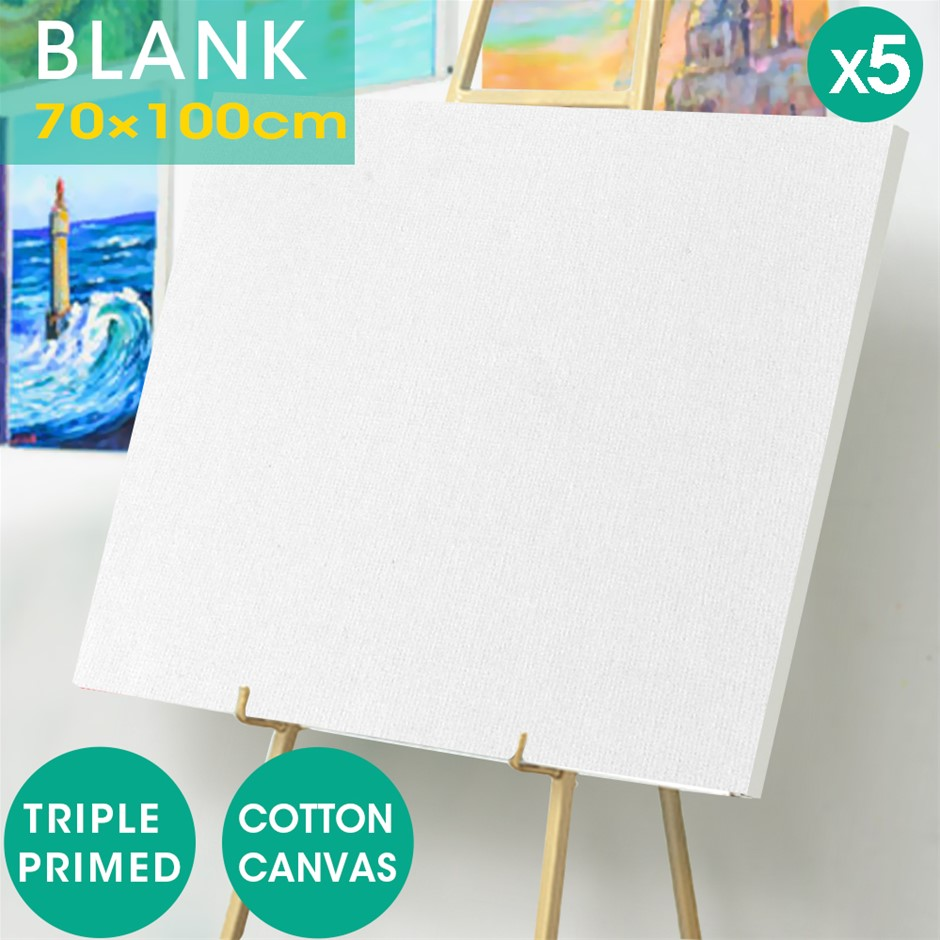 5x Blank Artist Stretched Canvases Art Large Range Oil Acrylic Wood 70x100