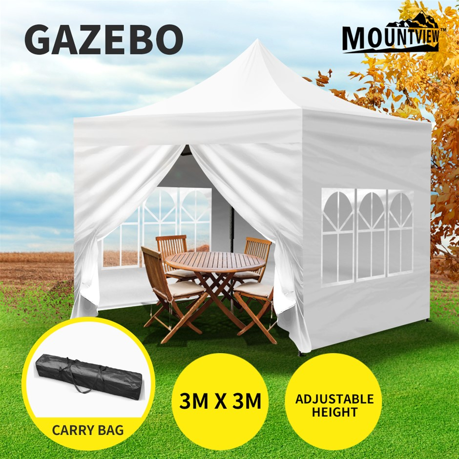 Mountview Gazebo 3x3 Pop Up Tent Folding Marquee Canopy Outdoor Camping