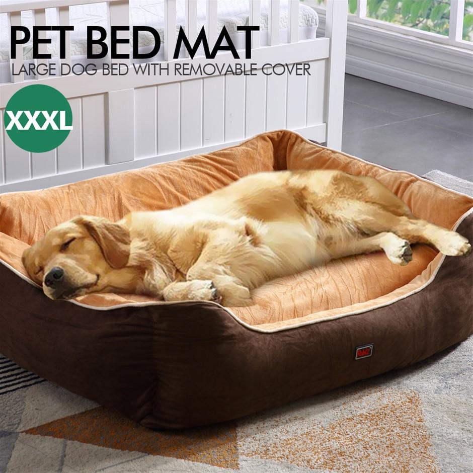 PaWz Pet Bed Mattress Dog Cat Pad Mat Cushion Soft Warm Washable 3XL Brown