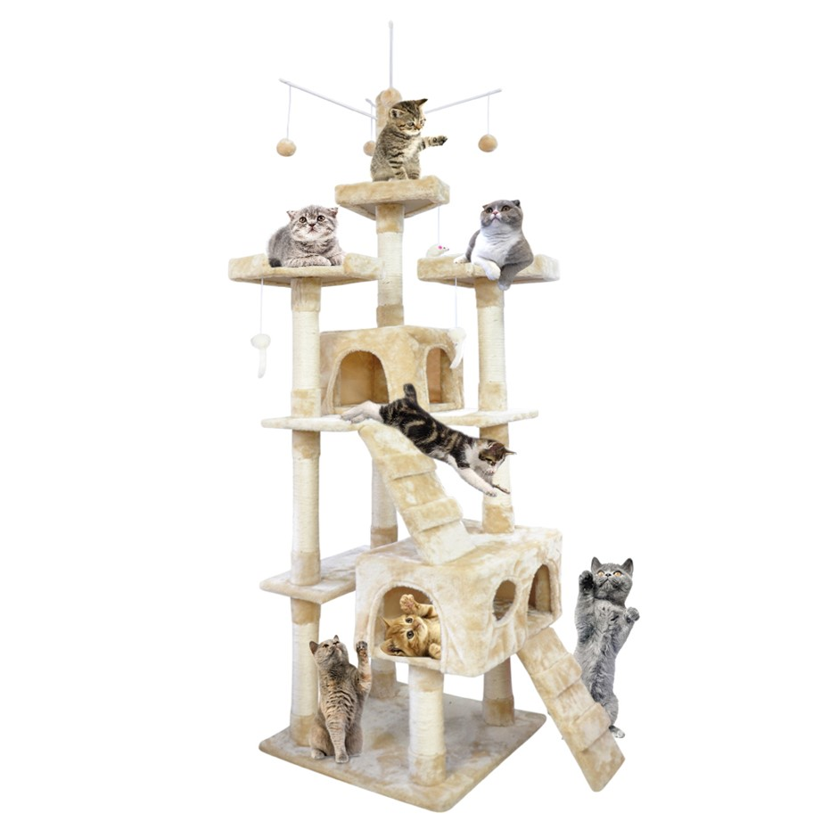 PaWz 2.1M Cat Scratching Post Tree Gym House Condo Furniture Scratcher