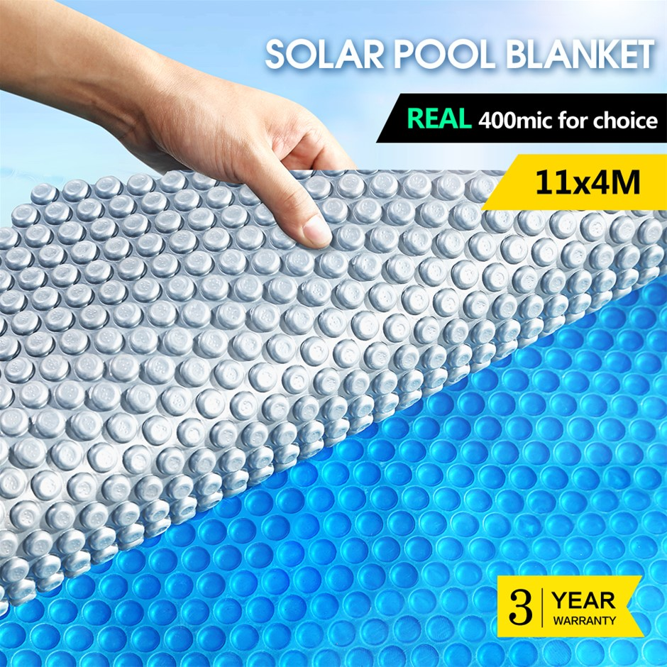 Solar Swimming Pool Cover 400 Micron Outdoor Bubble Blanket Protector