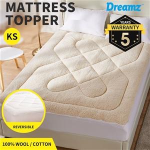 Dreamz Mattress Topper Wool Underlay Rev
