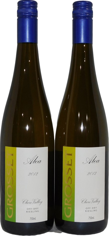 Grosset Alea Clare Valley Off-Dry Riesling 2012 (2x 750mL), SA. Screwcap