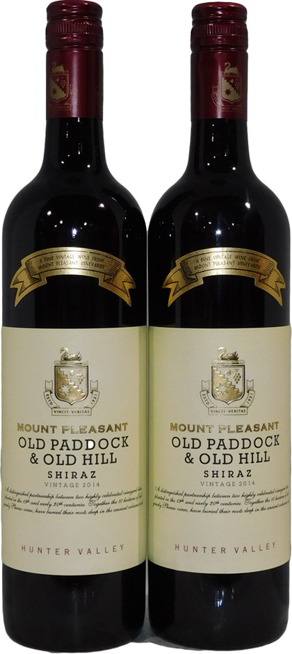 Mt Pleasant Old Paddock Shiraz 2014 (2x 750mL), Hunter Valley. Screwcap.