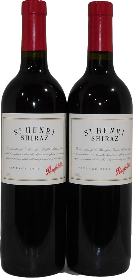 Penfolds `St Henri` Shiraz 2010 (2x 750mL), SA. Cork