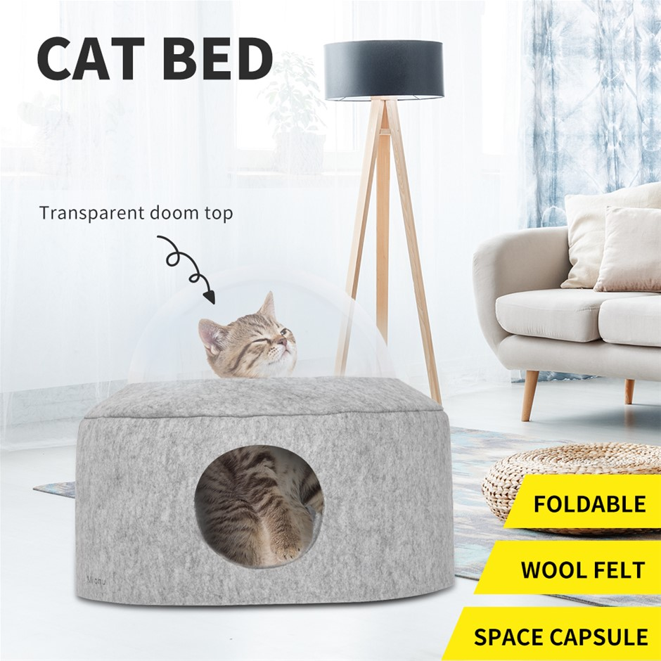 Cat Bed Pet Cave Soft Cushion Igloo Kitten Window Bed Mat House Small Dog