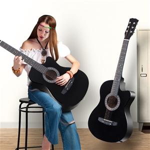 """BoPeep 38 """" Wooden Acoustic Guitar Class"""