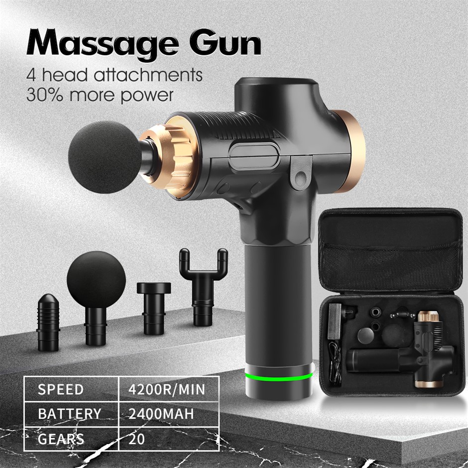 4Head Electric Massage Gun LCD Percussion Massager Muscle Vibration Therapy
