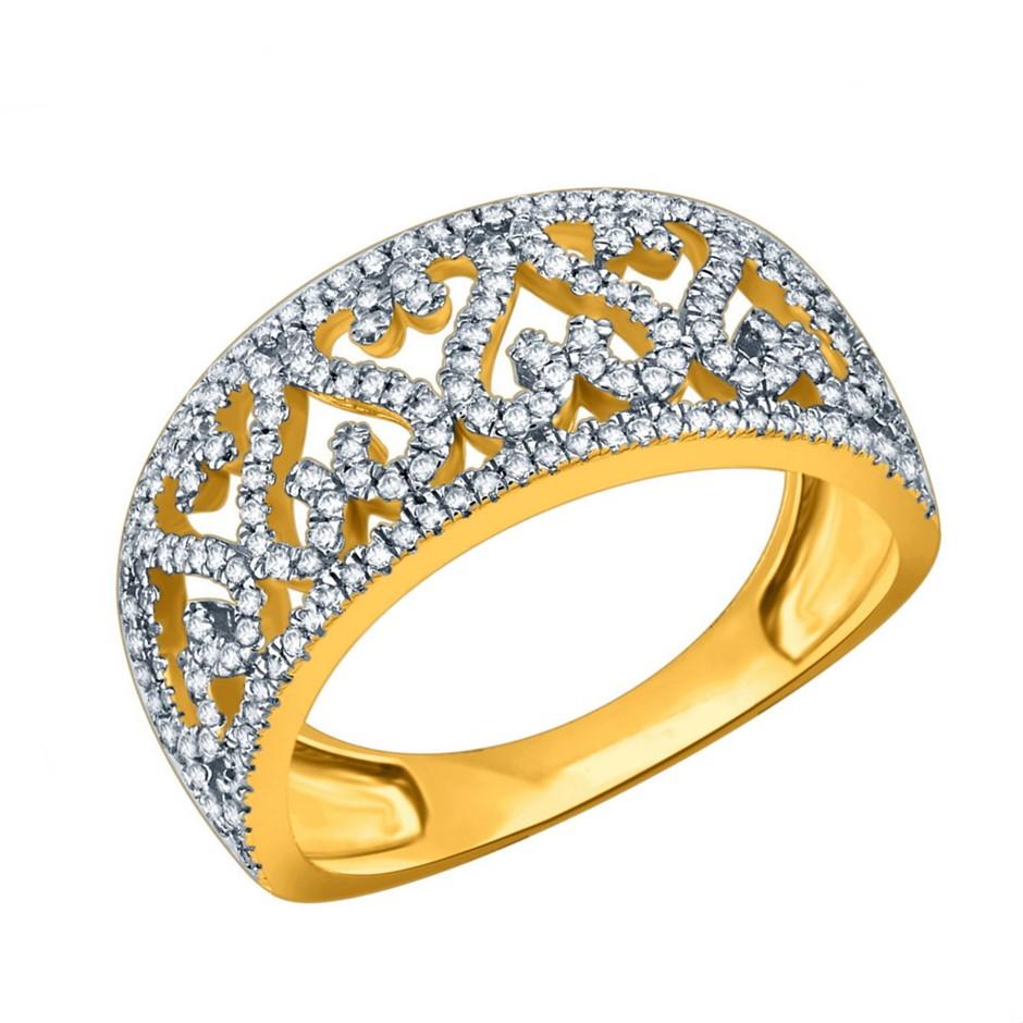 9ct Yellow Gold, 0.36ct Diamond Ring