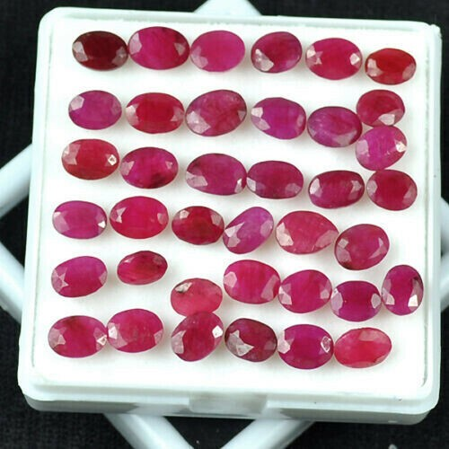 Thirty Eight Loose Ruby, 44.82ct in Total