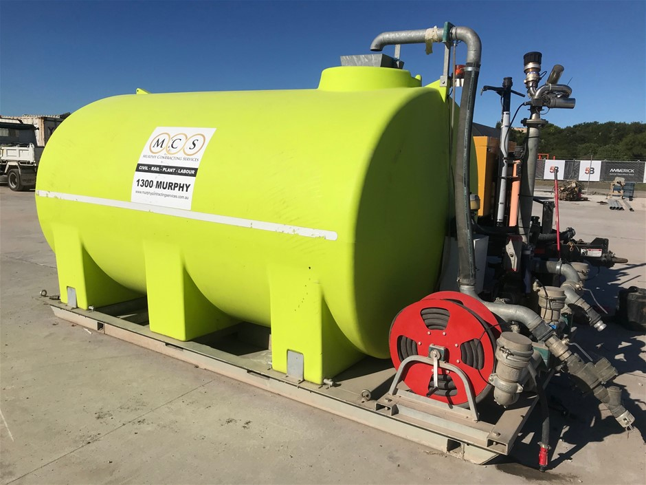 Transtank 12,000 Litre Slide on Water Tank Mounted on Galvanised Frame<B