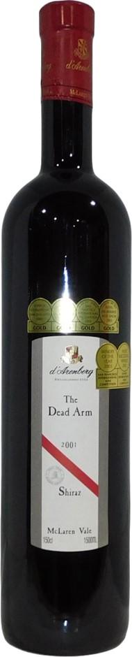 d'Arenberg The Dead Arm Shiraz 2001 (1x 1.5L), McLaren Vale, SA. Cork