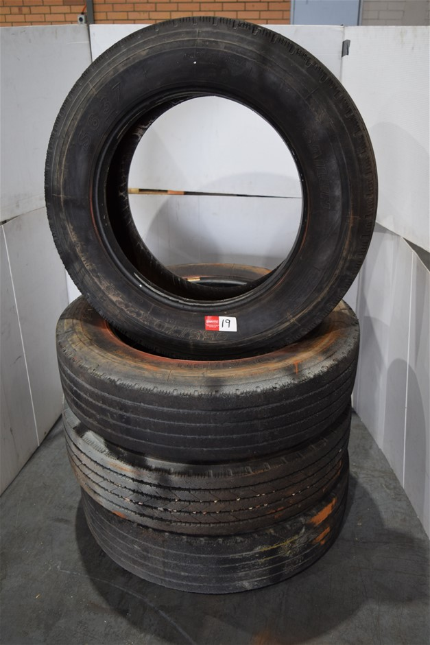 Lot of 4 Truck Tyres