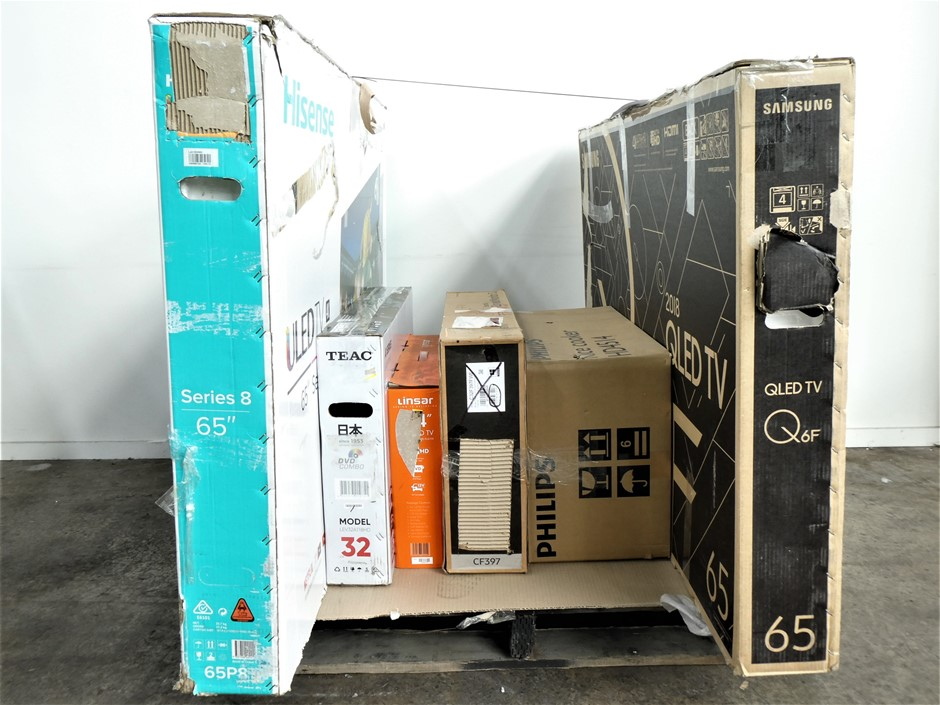 Pallet of Assorted Big Brand USED/UNTESTED Televisions