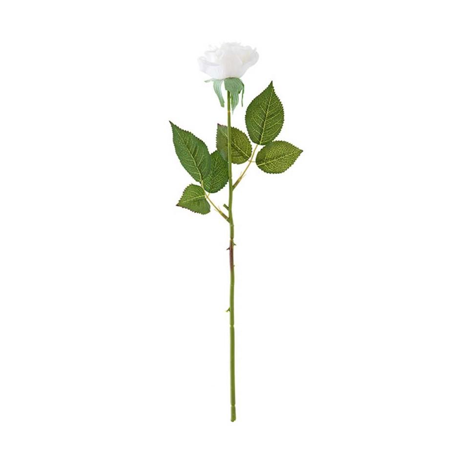 SOGA 10pcs Artificial Silk Flower Fake Rose Bouquet Table Decor White