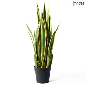 SOGA 70cm Artificial Indoor Yellow Edge