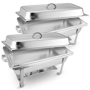 SOGA 2X 9L Stainless Steel Chafing Food