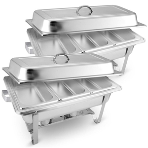 SOGA 2X Stainless Steel Chafing Food War