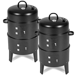 SOGA 2X 3 In 1 Barbecue Smoker Outdoor C