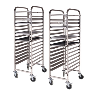 SOGA 2X Gastronorm Trolley 16 Tier SS Ca