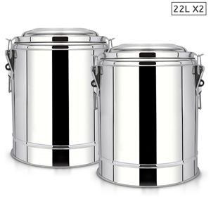 SOGA 2X 22L SS Insulated Stock Pot Dispe