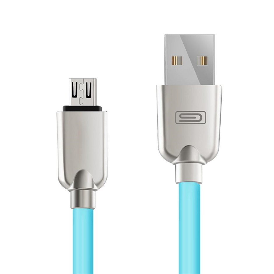 Android 1.5M Lightning Micro USB Data Sync Charger Cable Cord Samsung Blue