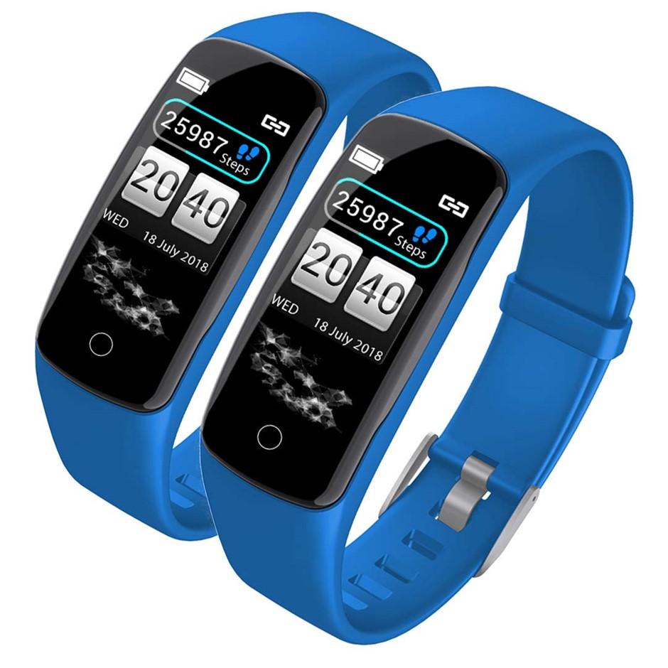 SOGA 2x Sport Monitor Wrist Touch Fitness Tracker Smart Watch Blue