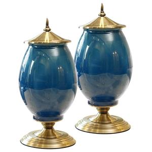 SOGA 2x 40cm Ceramic Oval Flower Vase wi