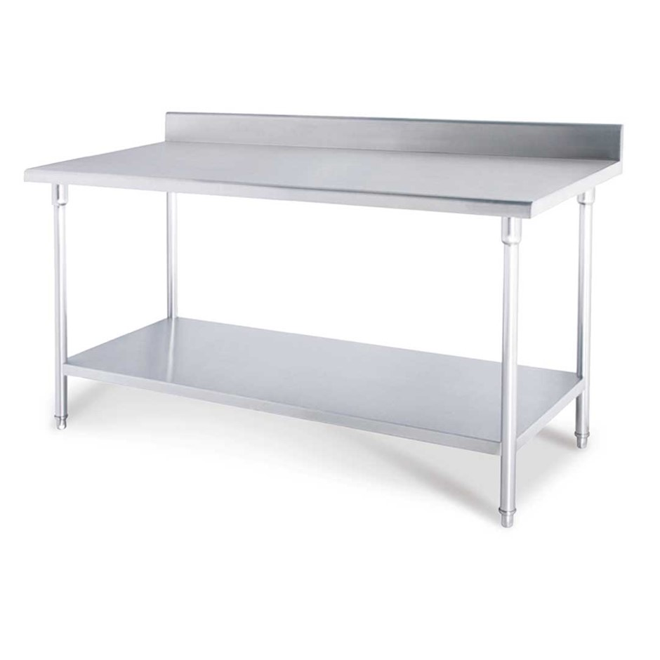 SOGA 150*70*85cm Commercial Catering Stainless Steel Work Bench