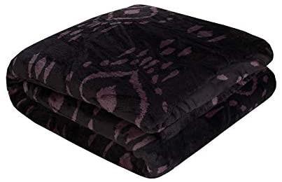 BAMBURY Ultraplush Blanket Zuni Ultra Plush Blanket, King Bed, Midnight. Po