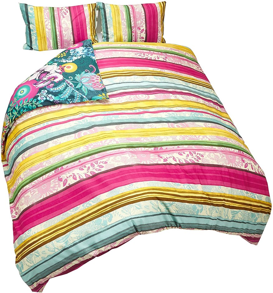 Desigual Desigual Quilt Cover Set Pailsey Bloom Quilt Cover Set, Queen. Com