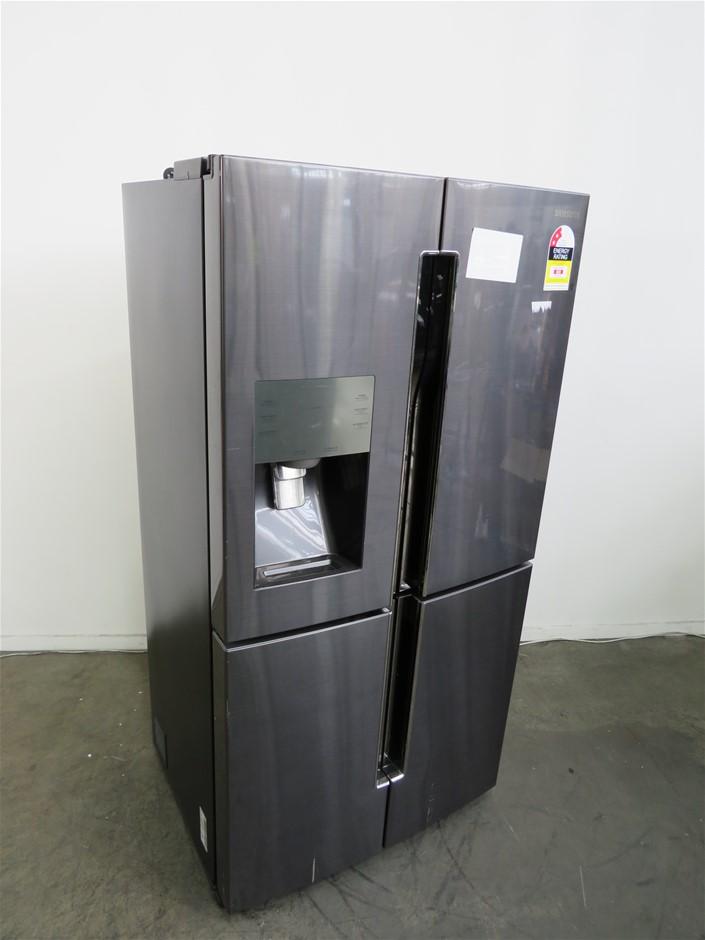 Samsung 719L 4 Door Fridge (Black Steel) (SRF717CDBLS)
