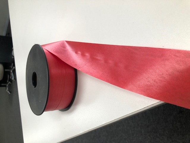 Bundle of 5 x 91mts Per roll Red Satin Ribbon