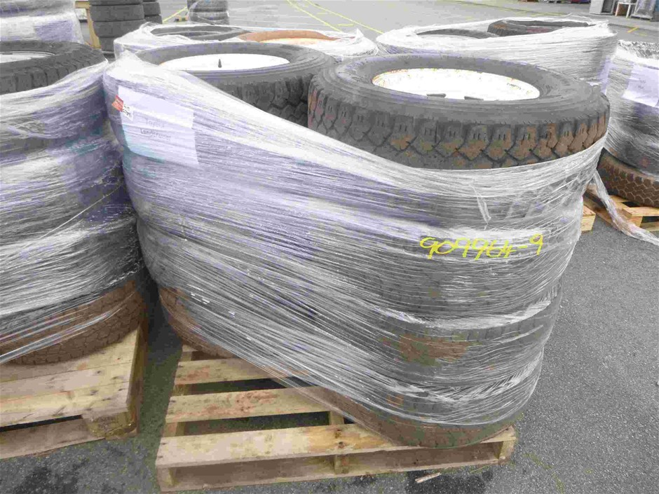 Pallet of 8x Rims & Tyres to Suit Landcruiser