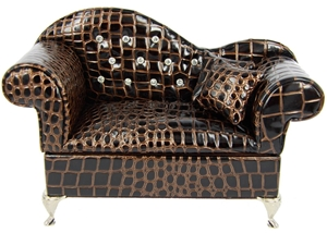 JEWELLERY BOX COUCH (FAUX SNAKE SKIN) (2