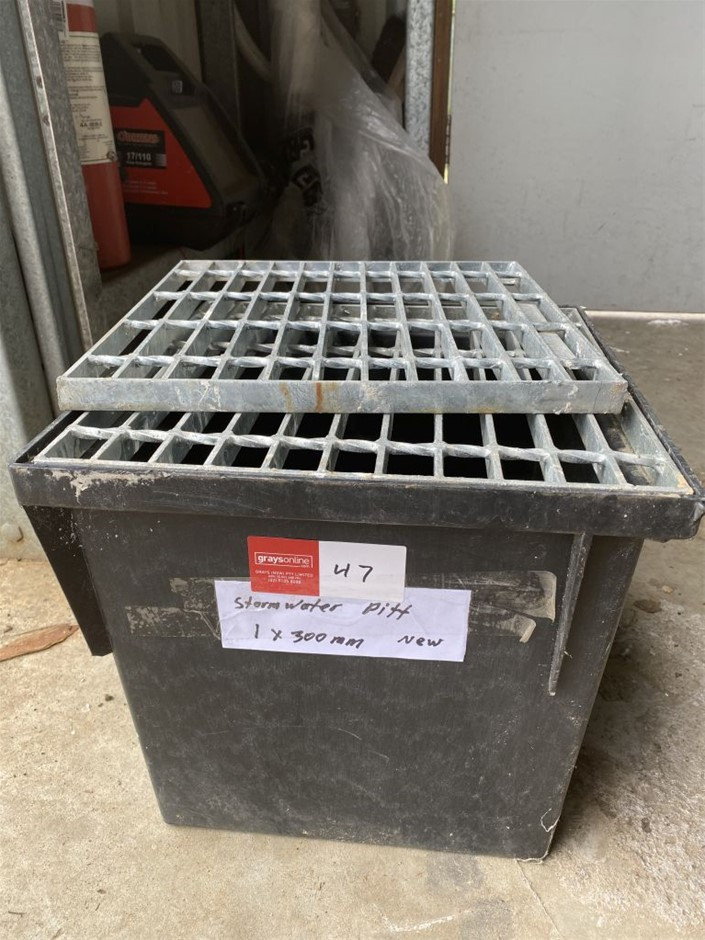 1 x Storm Water Pit with Grate - Unused 300mm (273629-47)
