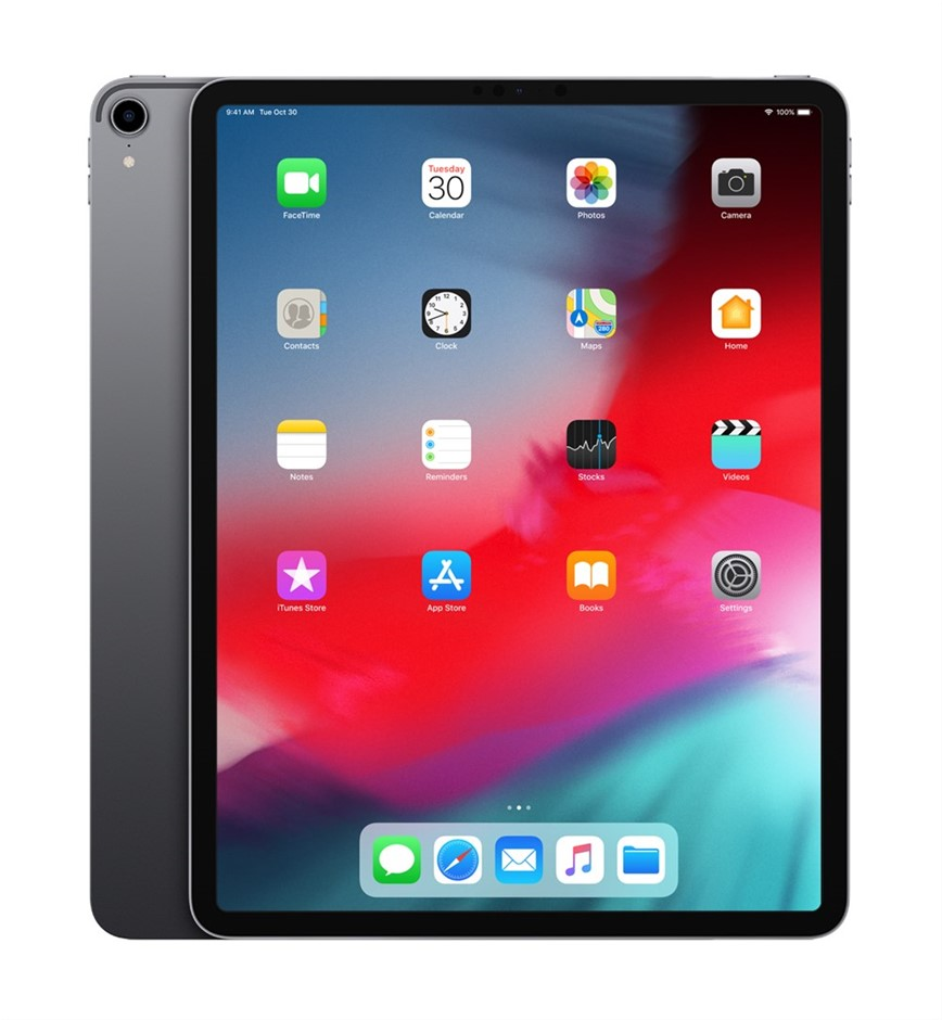 APPLE 12.9in Ipad Pro (3rd Generation), 64GB Space Grey. Complete with Char