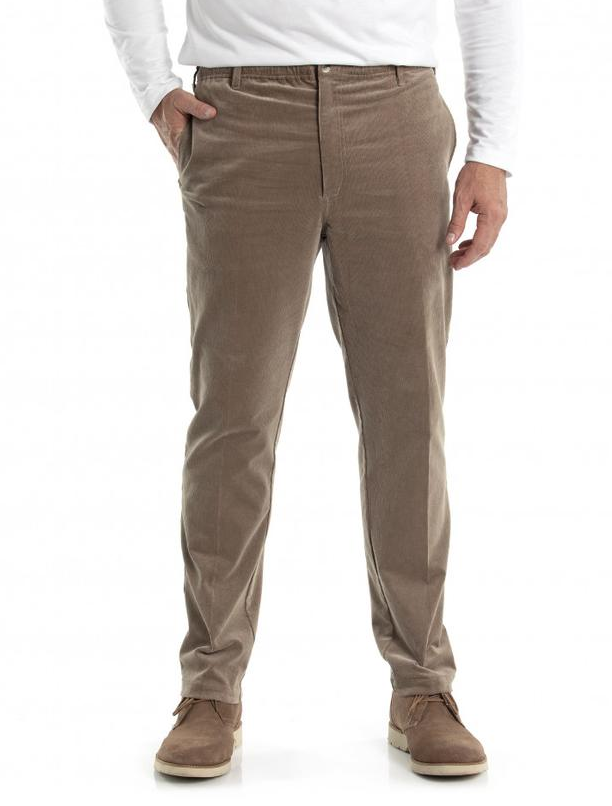 CITY CLUB Front Cotton Casual Trouser. Size 97S, Colour: Nut. Buyers Note -