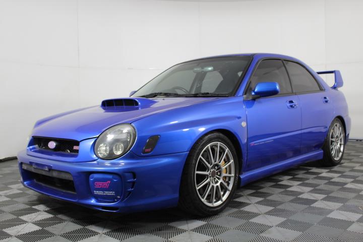 2002 Subaru WRX STi with Rare Enkei Monoblock Alloys