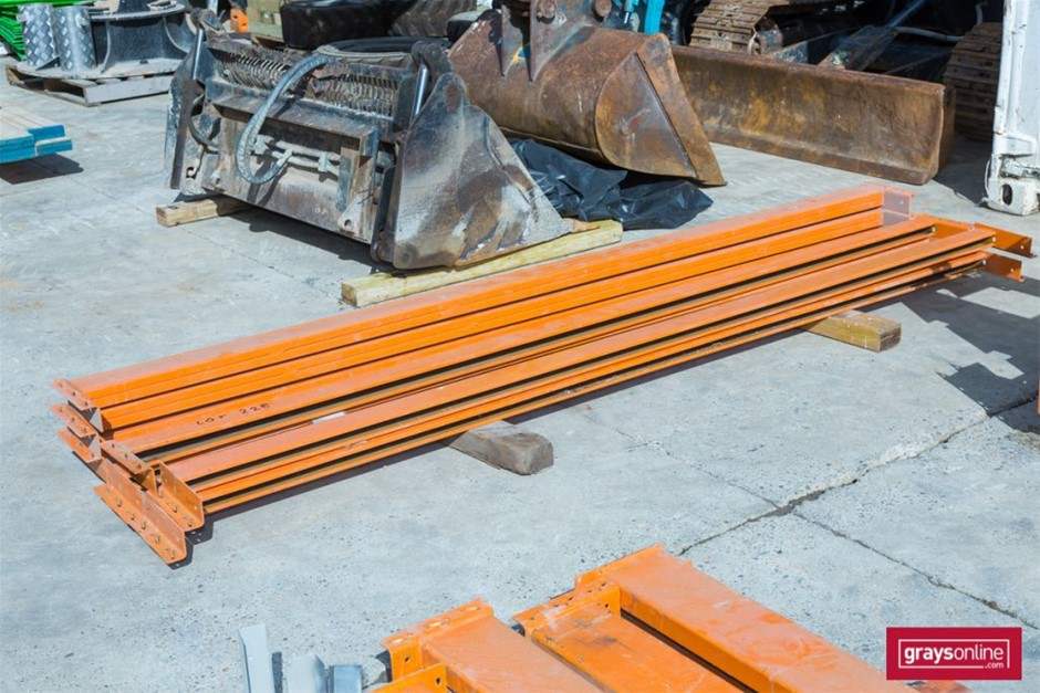 Qty 7 x assorted Dexion style Pallet Racking Load Beams