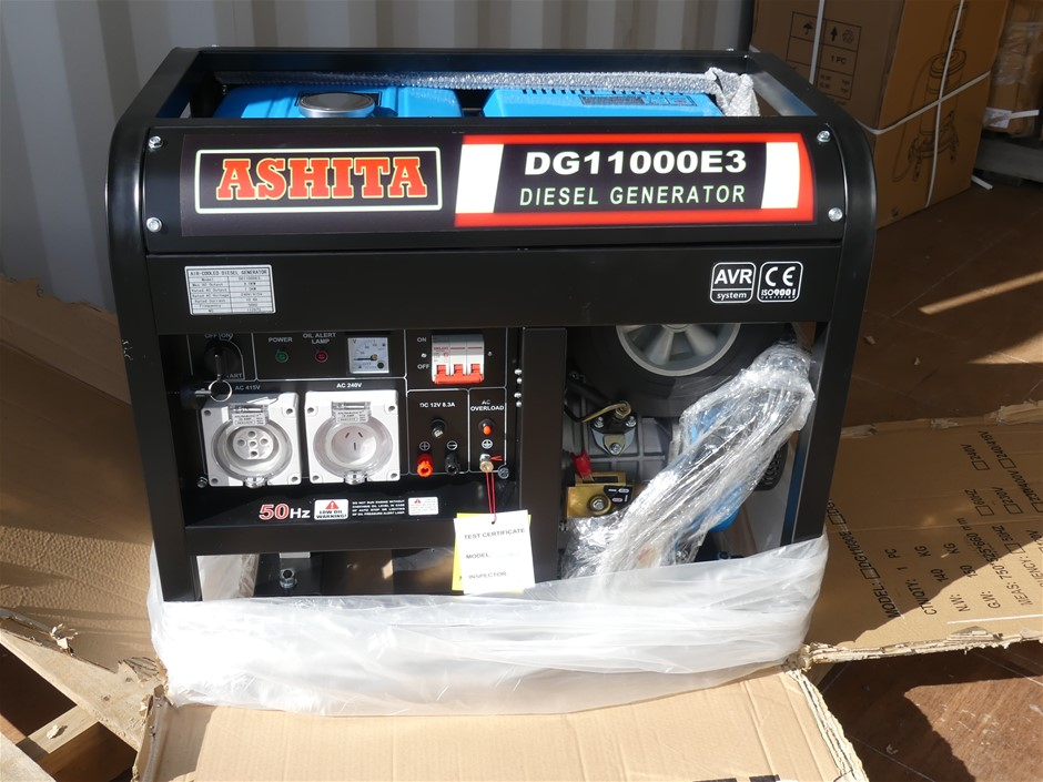 Unused Ashita DG11000E3 Open Generator