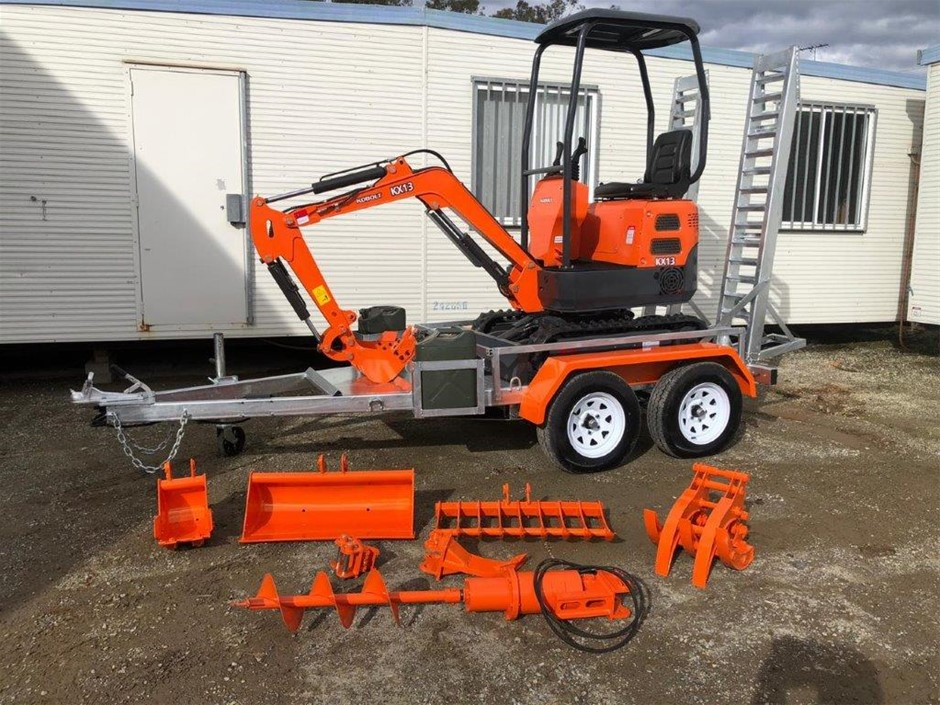 New 2020 Kobolt KX13 Mini Excavator Package