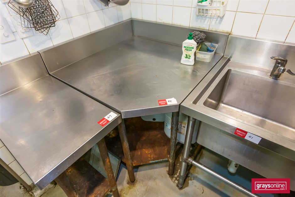 Brayco Stainless Steel Kitchen Corner Bench