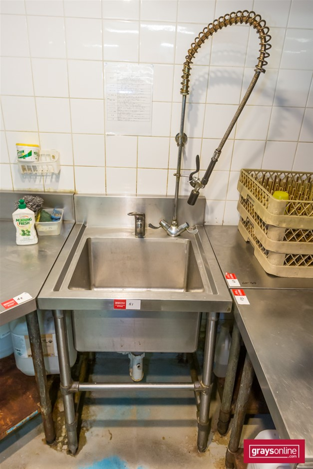 Brayco Stainless Steel Kitchen Bench with Single tub