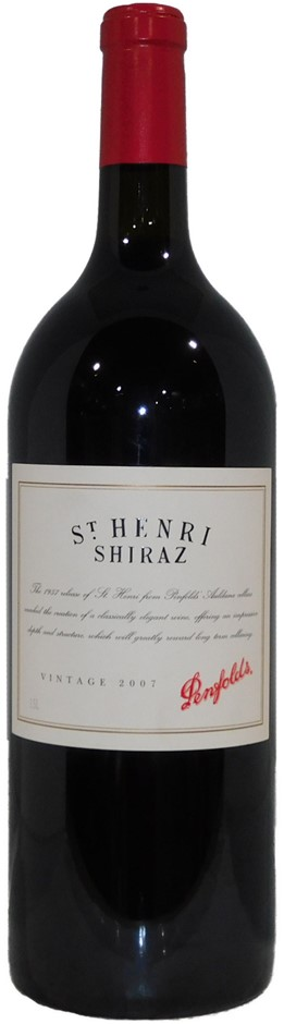 Penfolds St Henri Shiraz 2007 (1x 1.5L Magnum), SA. Cork