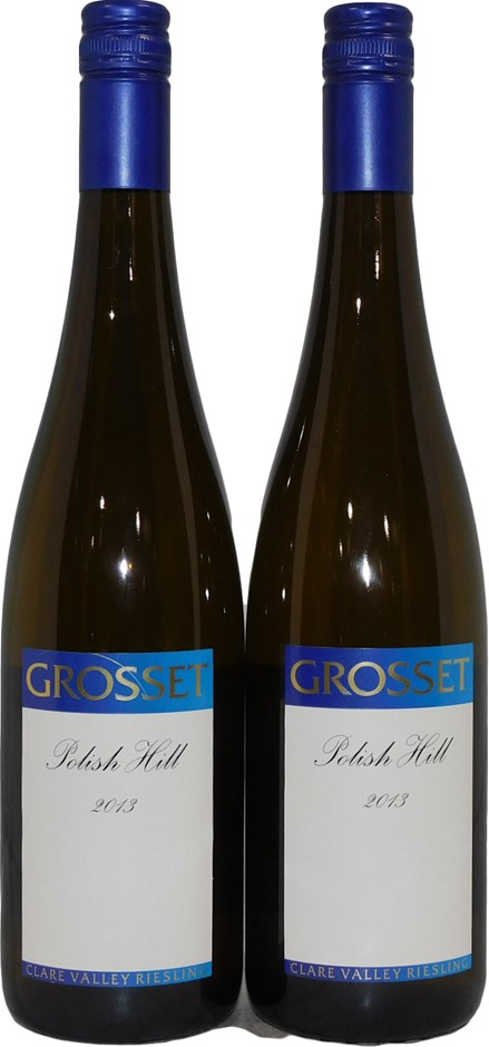 Gosset Polish Hill Clare Valley Riesling 2013 (2x 750mL), SA. Screwcap.